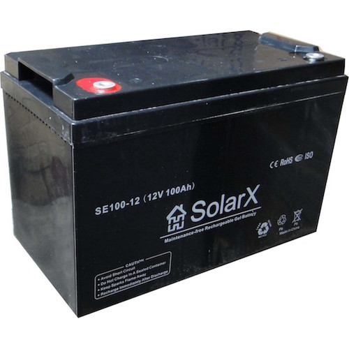 Гелевый аккумулятор SolarX SE100-12
