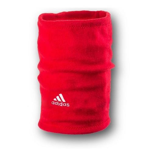 Флисовый горловик бафф Adidas односторонний красный