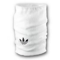 Флисовый горловик бафф Adidas original односторонний белый