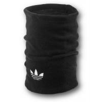 Флисовый горловик бафф Adidas original односторонний черный