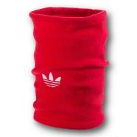 Флисовый горловик бафф Adidas original односторонний красный