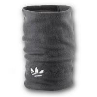 Флисовый горловик бафф Adidas original односторонний серый