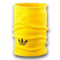 Флисовый горловик бафф Adidas original односторонний желтый
