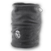 Флисовый горловик бафф Реал Мадрид односторонний серый