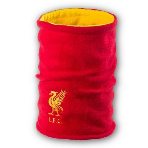 Флисовый горловик бафф Ливерпуль двусторонний красно-желтый