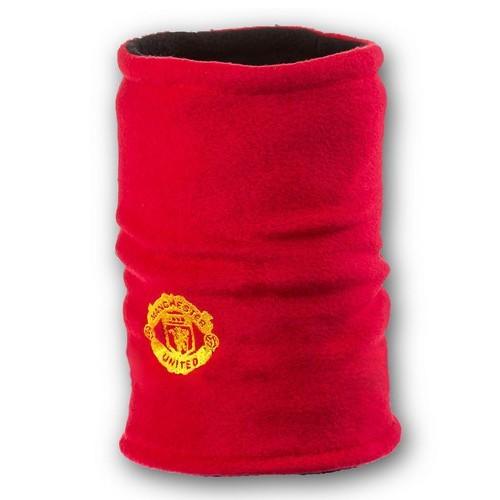 Флисовый горловик бафф Манчестер Юнайтед двусторонний красно-черный