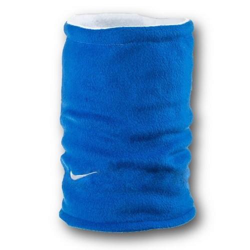Флисовый горловик бафф Nike двусторонний сине-белый