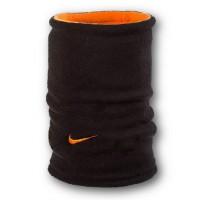 Флисовый горловик бафф Nike двусторонний черно-оранжевый