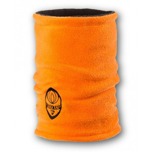 Флисовый горловик бафф Шахтер двусторонний черно-оранжевый