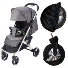 Чехлы набор на 4 колеса для коляски прогулки защита от грязи на поворотные колеса