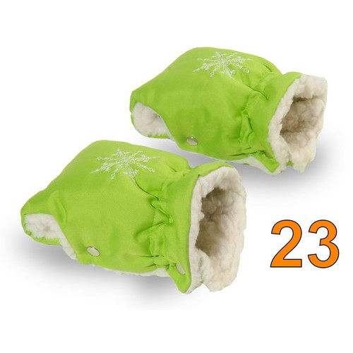 23 Муфта для коляски салатовая