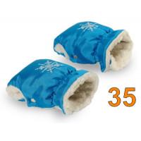 35 Муфта для коляски бирюзовая блестящая