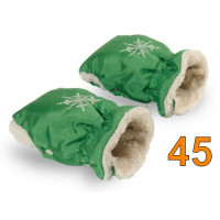 45 Муфта для коляски зеленая травяная