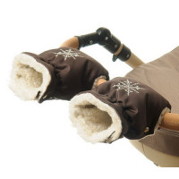1 Муфта для коляски темно-коричневая