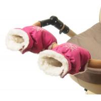 15 Муфта для коляски малиновая матовая