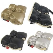 Муфта рукавички Zdrowe Dziecko (Z&D Польша) ЭКО кожа на коляску на овчине зимние