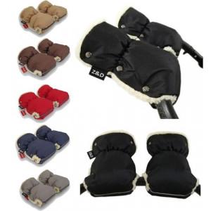 Муфты рукавички Zdrowe Dziecko (Z&D Польша) для рук мамы на коляску на овчине зимние