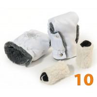 10 Муфта для коляски белая
