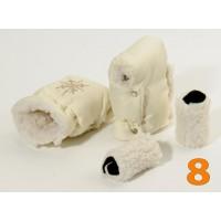 8 Муфта для коляски молочная матовая