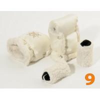 9 Муфта для коляски молочная блестящая