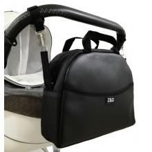 Сумка на коляску Z&D New Еко шкіра Чорна органайзер з гачками (Zdrowe Dziecko, Польща)