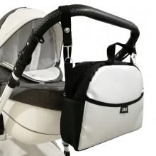 Сумка на коляску Z&D New Еко шкіра Срібло органайзер з гачками (Zdrowe Dziecko, Польща)