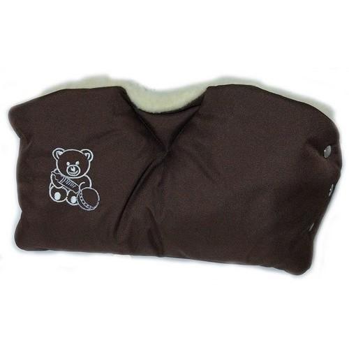 Муфта цельная для коляски коричневая