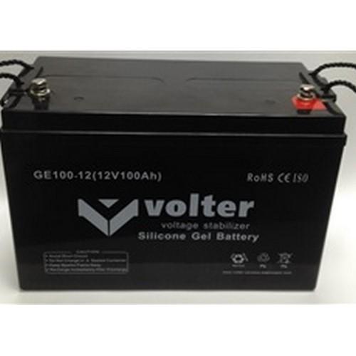 Гелевый аккумулятор АКБ Volter GE 12V 100Ah